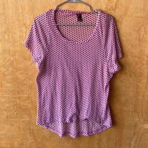 Prana Tissue Weight Sheer Pink Polka Dot T-Shirt
